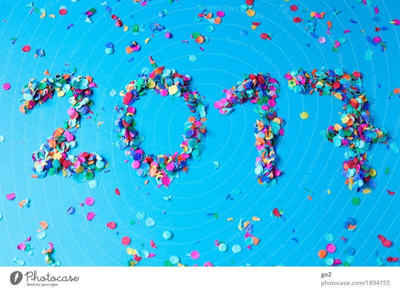 2017 blau Freude Gefühle Glück Feste & Feiern Party Dekoration & Verzierung Geburtstag Kreativität Fröhlichkeit Lebensfreude Ziffern & Zahlen Hochzeit Show Veranstaltung Silvester u. Neujahr
