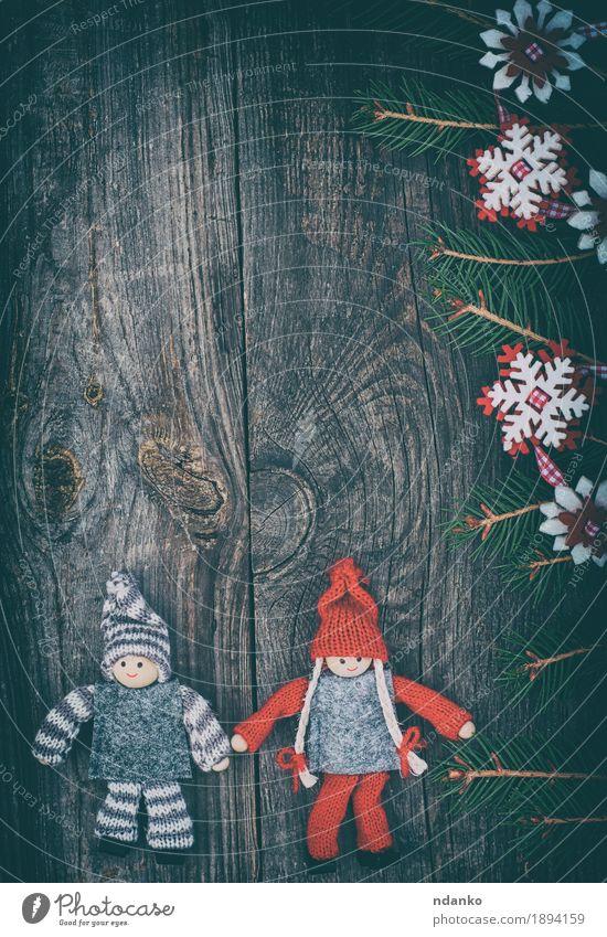Weihnachtshölzerner Hintergrund mit Weihnachtsspielwaren Winter Dekoration & Verzierung Tisch Feste & Feiern Weihnachten & Advent Silvester u. Neujahr Spielzeug