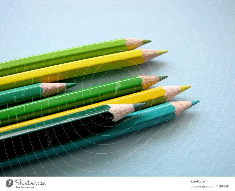 Grün schön grün blau Holz Kommunizieren Spitze zeichnen malen Kreativität 7 eckig Farbstift Symbole & Metaphern angespitzt