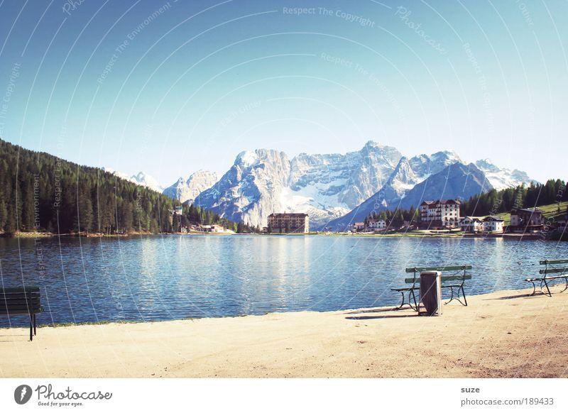 Bergidylle Himmel Natur Ferien & Urlaub & Reisen Sommer Wald Umwelt Landschaft Berge u. Gebirge See wandern Tourismus Ausflug Pause Schönes Wetter Alpen Idylle