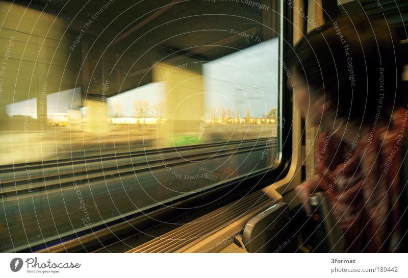 IM_ZUG Ferien & Urlaub & Reisen Leben Fenster Wege & Pfade Eisenbahn Zukunft neu Brücke Wandel & Veränderung fahren Neugier Gleise Bahnhof Interesse Verkehr Personenverkehr