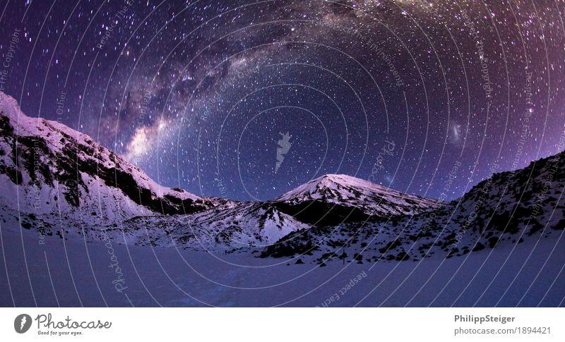 Kalte Nacht im Tongariro National Park III Umwelt Natur Landschaft Himmel Wolkenloser Himmel Nachthimmel Klima Felsen Berge u. Gebirge Gipfel