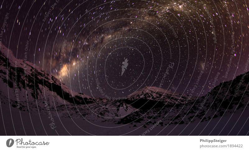 Kalte Nacht im Tongariro National Park II Umwelt Natur Landschaft Himmel Wolkenloser Himmel Nachthimmel Stern Klima Berge u. Gebirge Gipfel