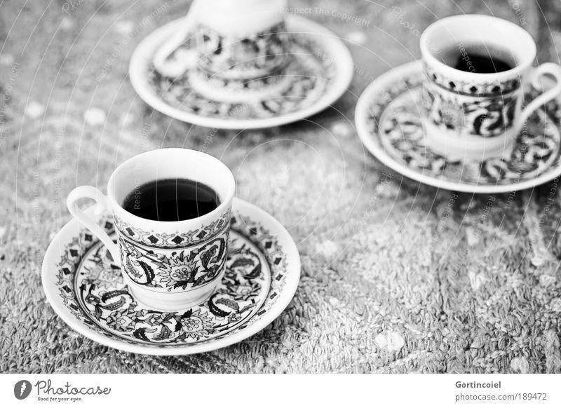 Kütahya Porselen Ernährung Schwarzweißfoto Stil Feste & Feiern Lebensmittel Design Getränk Kaffee trinken Dekoration & Verzierung heiß Geschirr lecker Tasse