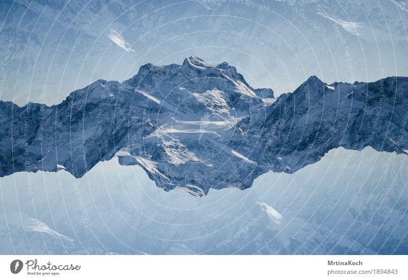 Bergwelt II Natur Landschaft Tier Sonnenlicht Herbst Winter Schönes Wetter Eis Frost Schnee Schneefall Berge u. Gebirge Gipfel Schneebedeckte Gipfel Gletscher