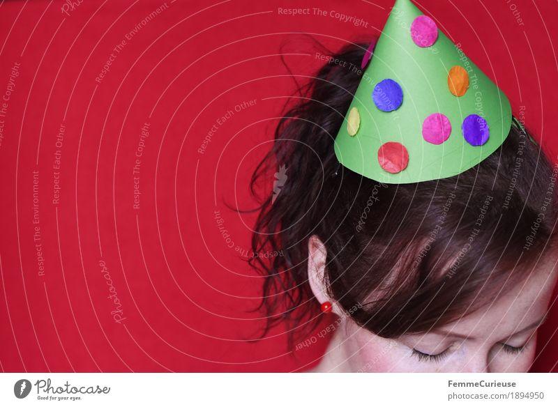 Hütchen Mensch Freude feminin Party Silvester u. Neujahr Karneval Hut Partygast Partystimmung Partynacht