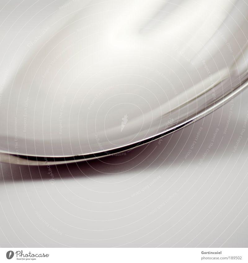 Spoon dunkel Stil grau Linie hell Metall glänzend Design elegant Ecke rund zart silber Silber sanft edel