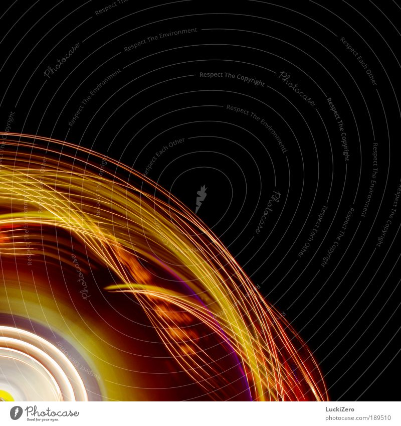 What goes around, comes around... weiß rot Freude schwarz gelb Bewegung Stil Linie Kunst Licht Tanzen abstrakt Energiewirtschaft Zukunft Streifen leuchten