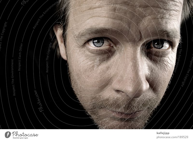 instinct Mensch Mann schwarz Erwachsene Gesicht Auge Leben Haare & Frisuren Kopf Haut Mund maskulin Nase Ohr Lippen Bart