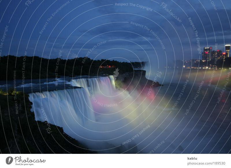 Niagara Falls Ferien & Urlaub & Reisen Ferne Sightseeing Landschaft Wasser Wasserfall Niagara Fälle Sehenswürdigkeit Überraschung Farbfoto Außenaufnahme