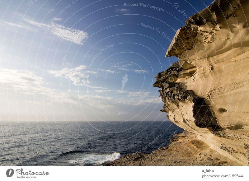 unendliche weite Himmel Natur Sommer Strand Meer Wolken Einsamkeit Ferne Landschaft Bewegung träumen Wärme Küste Wellen Horizont hoch