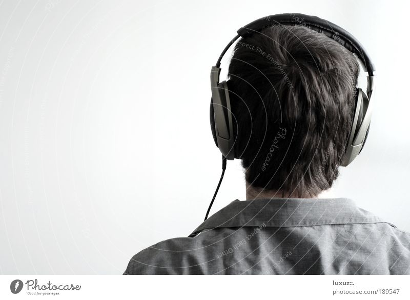 Musik hören Stil MP3-Player Unterhaltungselektronik Kopf Musiker Radio lernen genießen Podcast Hörspiel Kontakt multimedial HiFi gehirnwäsche Experiment Versuch