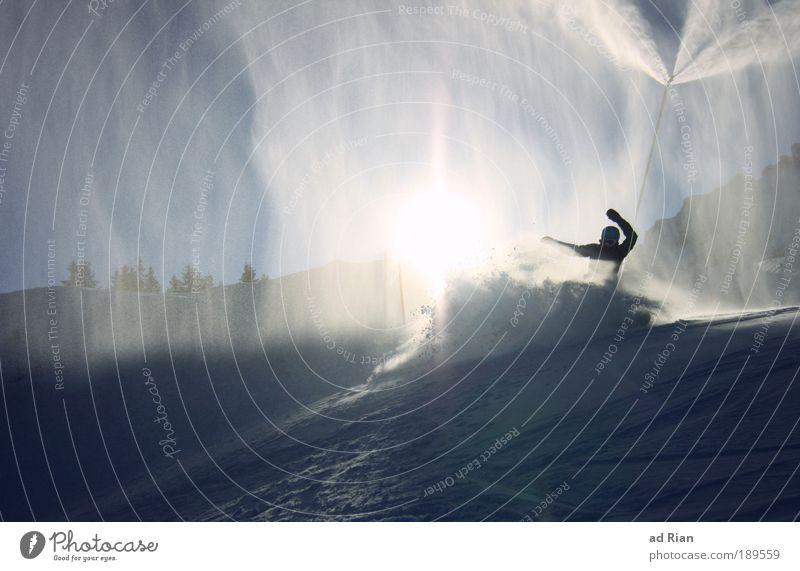 kaltduscher! Stil Freude Freizeit & Hobby Winter Schnee Berge u. Gebirge Sportler Tanzen Skipiste 1 Mensch Natur Wasser Wetter Schönes Wetter schlechtes Wetter