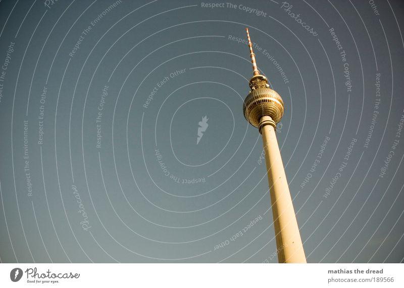 SONNENBADEN Berlin Architektur Gebäude hoch Turm Bauwerk Kugel Skyline Denkmal Schönes Wetter Wahrzeichen Informationstechnologie Sehenswürdigkeit Hauptstadt