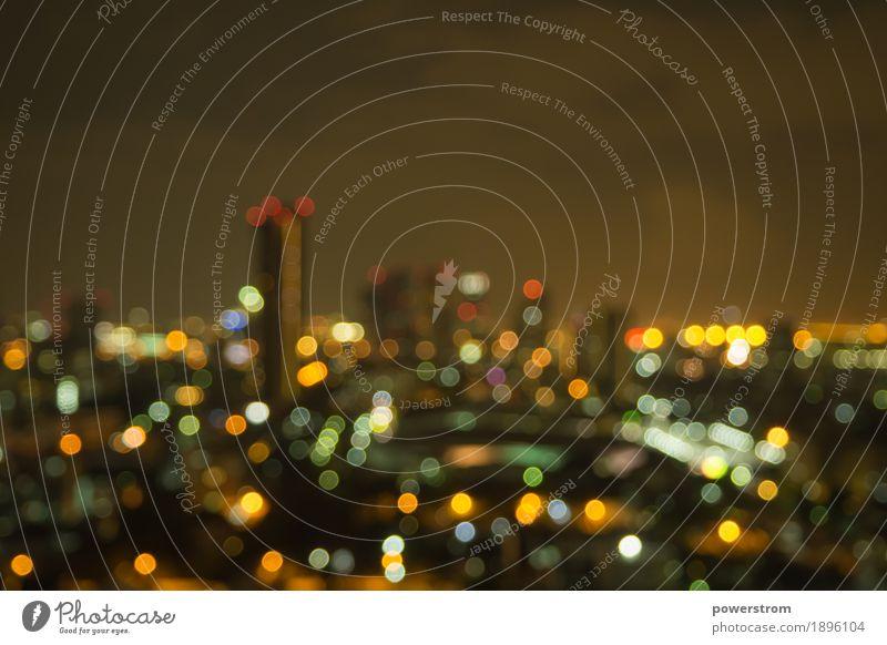 Bokeh der Stadt schön Tapete dunkel weich Farbe Asien Hintergrund Bangkok Unschärfe Großstadt Stadtbild farbenfroh Textfreiraum defokussieren Licht unscharf