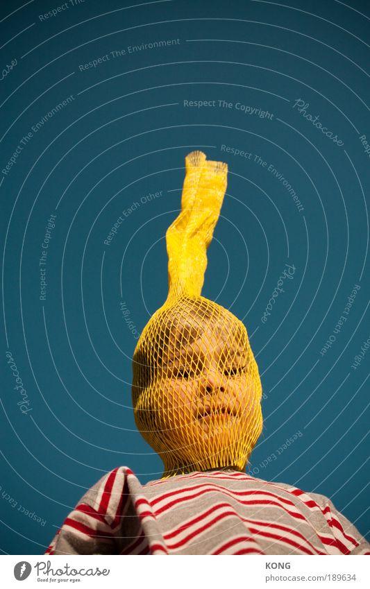 schnorchel Mensch Freude Gesicht gelb Junge Stil Kind Sport frei verrückt Natur Fröhlichkeit Maske Karneval Kindheit Kultur