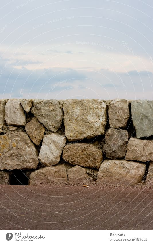 Querschnitt Sommer Umwelt Natur Urelemente Luft Himmel Wolken Stein Sand ästhetisch Zufriedenheit Ferien & Urlaub & Reisen Inspiration durchschneiden Felsen