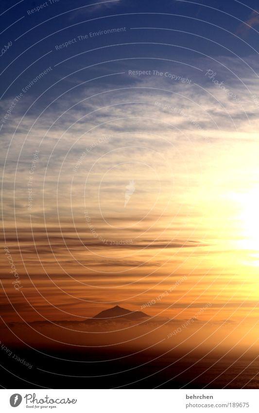 motiv bereits zu häufig vertreten Himmel Natur Sonnenuntergang Ferien & Urlaub & Reisen Meer Wolken Einsamkeit Ferne Freiheit Berge u. Gebirge Landschaft Zufriedenheit Kraft Nebel Insel Tourismus