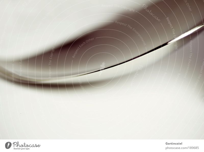 Another Spoon dunkel Stil grau Linie hell Metall glänzend Design elegant Ecke rund zart Makroaufnahme silber Silber sanft