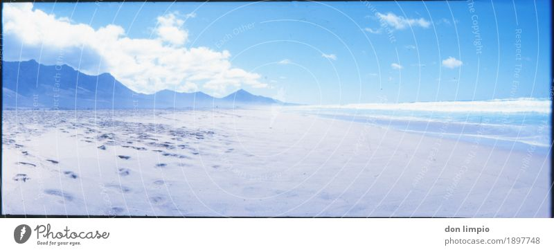 nächstes jahr mach ich blau! Ferien & Urlaub & Reisen Sommer Strand Meer Landschaft Schönes Wetter Insel Fuerteventura Cofete Menschenleer fantastisch hell