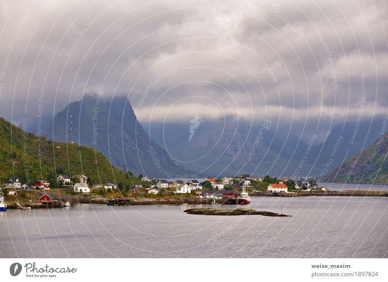 Himmel Natur Ferien & Urlaub & Reisen Sommer Meer Landschaft Wolken Haus Ferne Berge u. Gebirge Küste Freiheit Tourismus Felsen Insel Europa