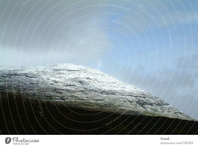 Puderzucker... ruhig Ferien & Urlaub & Reisen Ferne Berge u. Gebirge Landschaft Urelemente Eis Frost Gipfel Schneebedeckte Gipfel Stein groß blau grau weiß