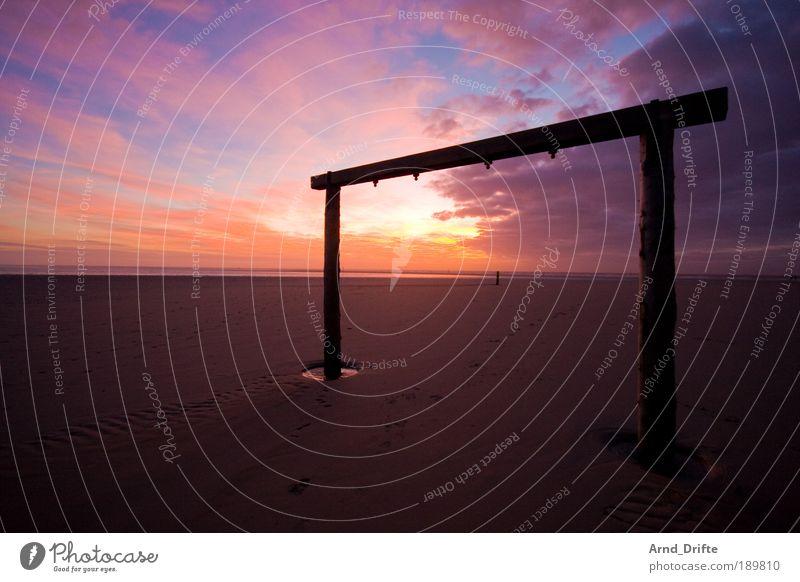 Tooor Toooor Tooooor!! harmonisch ruhig Ferne Strand Landschaft Sand Himmel Wolken Sonnenaufgang Sonnenuntergang Wetter Küste Nordsee Tor Wege & Pfade