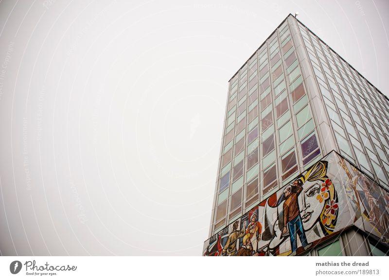 HAUS DES LEHRERS Himmel Stadt Hauptstadt Skyline Menschenleer Bauwerk Gebäude Architektur Sehenswürdigkeit Wahrzeichen Zeichen Ornament hoch Hochhaus Fassade
