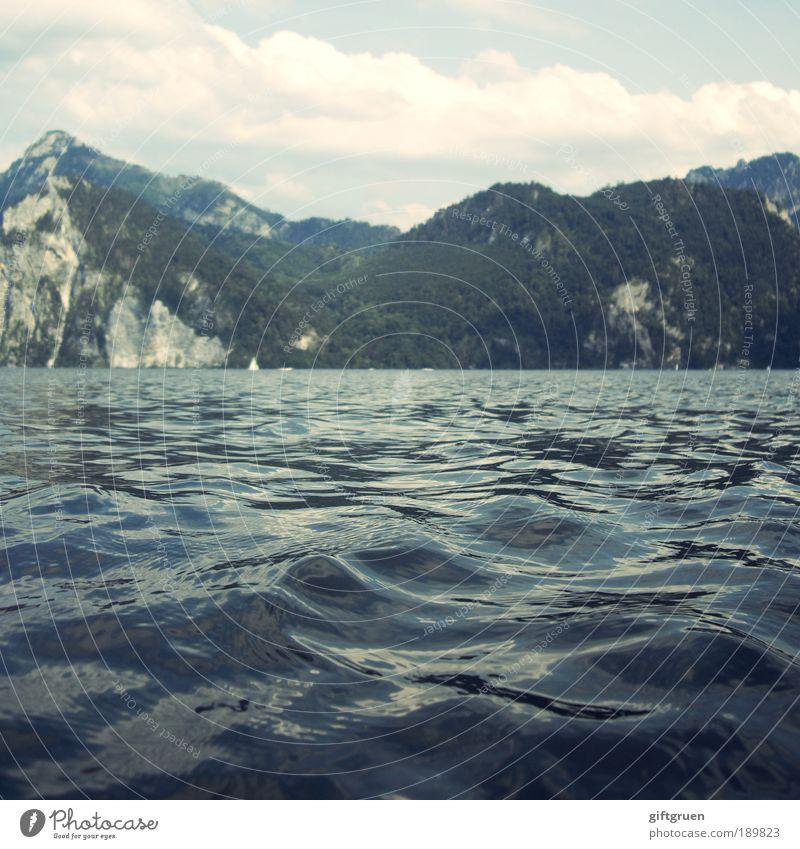 300 * floating Natur Wasser Himmel Sonne Sommer Ferien & Urlaub & Reisen Wolken Wald Berge u. Gebirge See Landschaft Zufriedenheit Wellen Umwelt Felsen