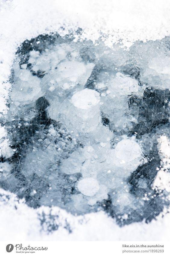 ice ice baby* Umwelt Natur Landschaft Urelemente Luft Wasser Winter Eis Frost Teich See Bach Fluss kalt Eisscholle Schnee Luftblase blackice gefroren