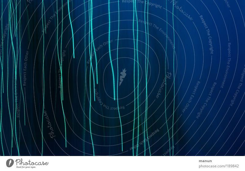 lines Stil Erholung ruhig Feste & Feiern Lichtspiel Lichteinfall Lichtstrahl Linie Streifen blau Design Farbe Inspiration Kreativität Symmetrie türkis