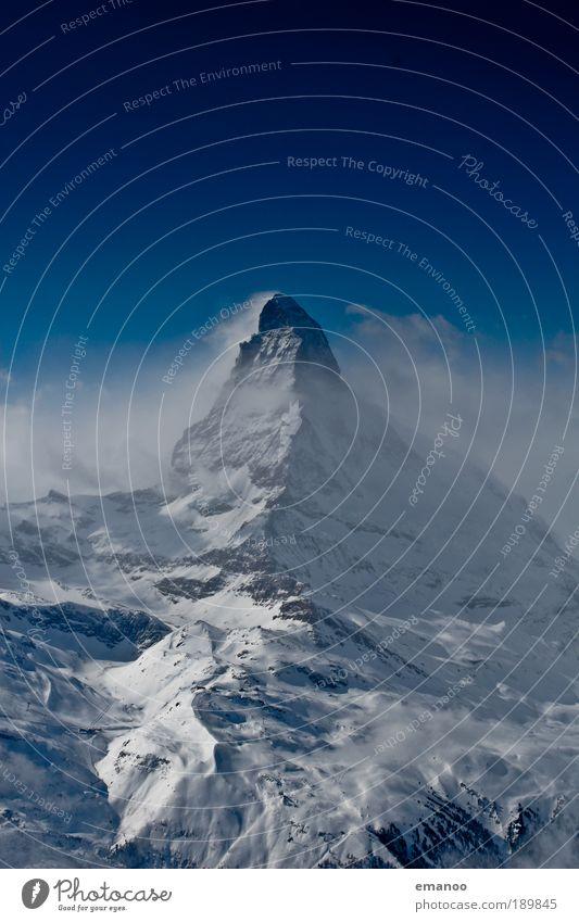 Matterhorn von Osten Ferien & Urlaub & Reisen Tourismus Ausflug Freiheit Winter Schnee Winterurlaub Berge u. Gebirge Skier Skipiste Natur Klima Schönes Wetter