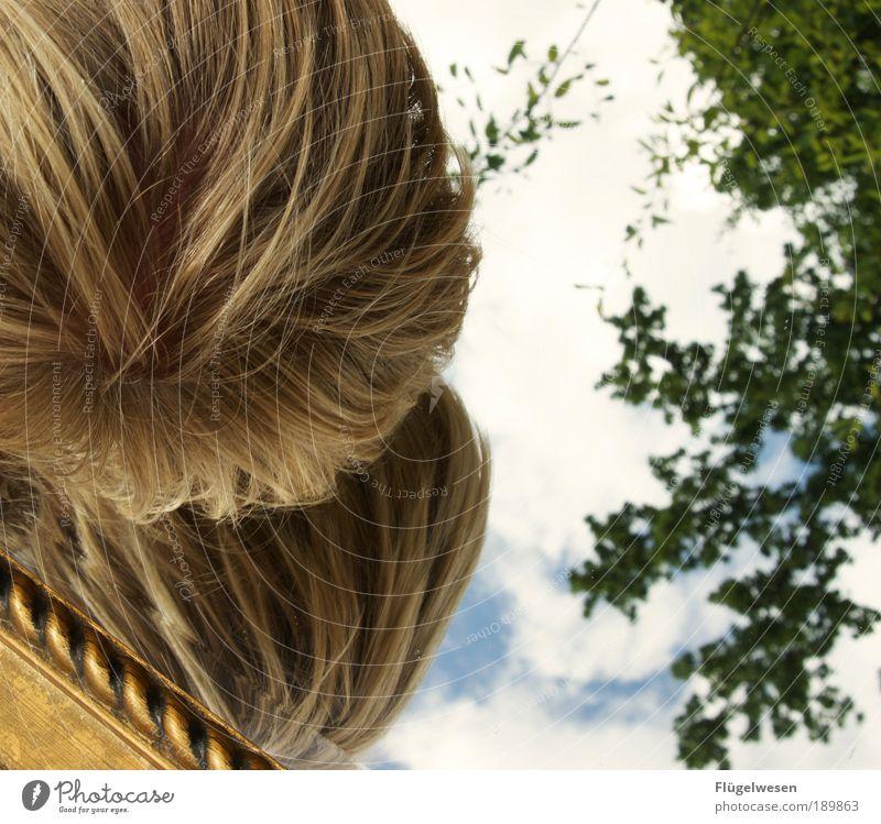 Das doppelte Lottchen Himmel Baum Einsamkeit Kopf Haare & Frisuren Kunst Horizont blond Freizeit & Hobby Lifestyle Spiegel Rahmen Doppelbelichtung Spiegelbild resignieren