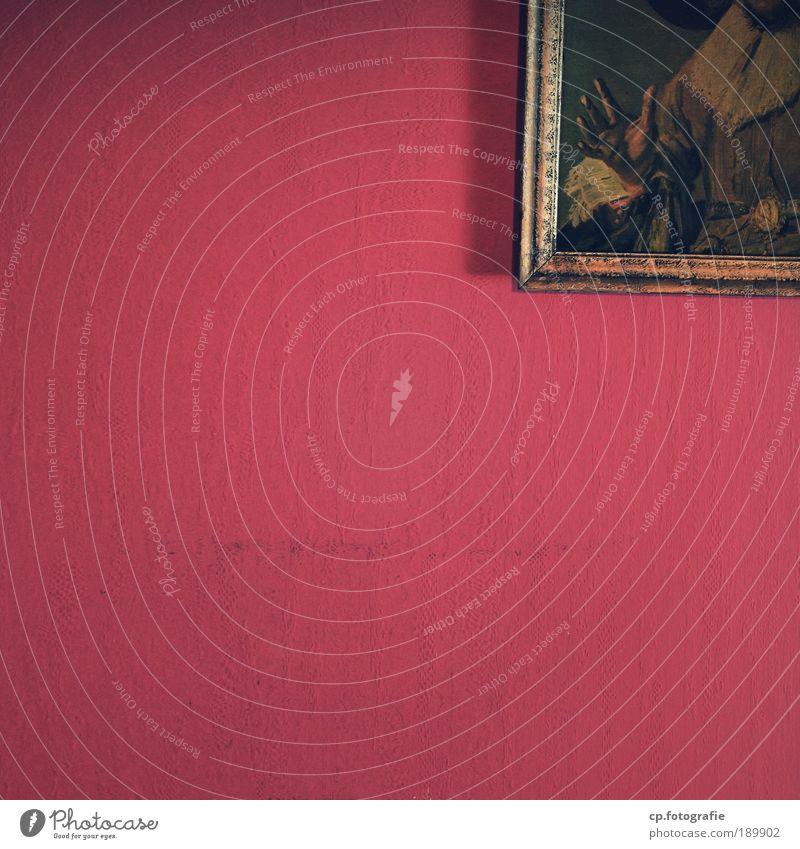 Schräges Stilleben Innenarchitektur Dekoration & Verzierung Tapete Wohnzimmer Kunst Künstler Ausstellung Kunstwerk Gemälde Sammlerstück historisch rot
