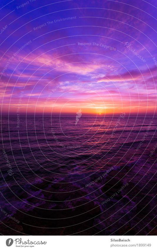 Kurz vor Sonnenaufgang Lifestyle Freude Wellness Ferien & Urlaub & Reisen Ausflug Abenteuer Ferne Sommerurlaub Meer Insel Wellen wandern Natur Landschaft Wolken