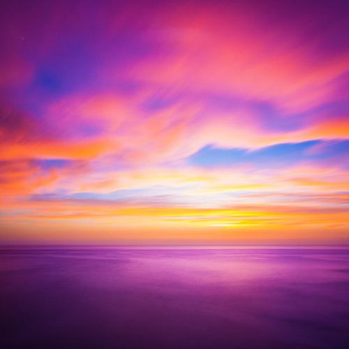 Romantische Farben Himmel Natur schön Meer rot Wolken Freude Umwelt gelb Lifestyle Hintergrundbild Küste Stimmung hell Wellen