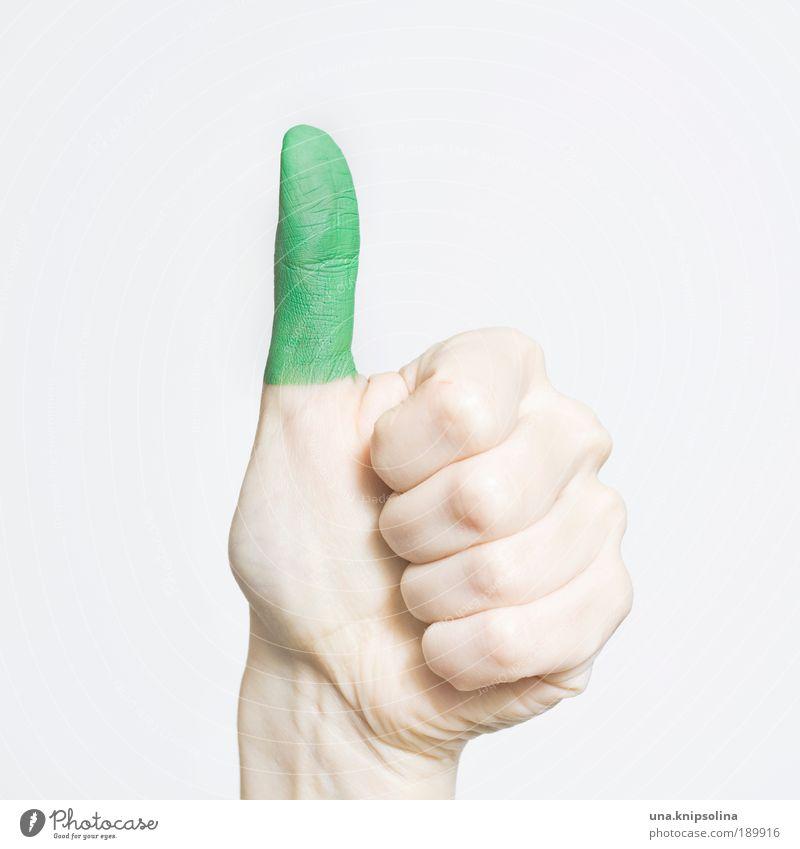 grüner daumen Freizeit & Hobby Gartenarbeit Hand Finger Umwelt Natur bauen Gärtner Daumen Grüner Daumen Farbfoto Gedeckte Farben Studioaufnahme Nahaufnahme