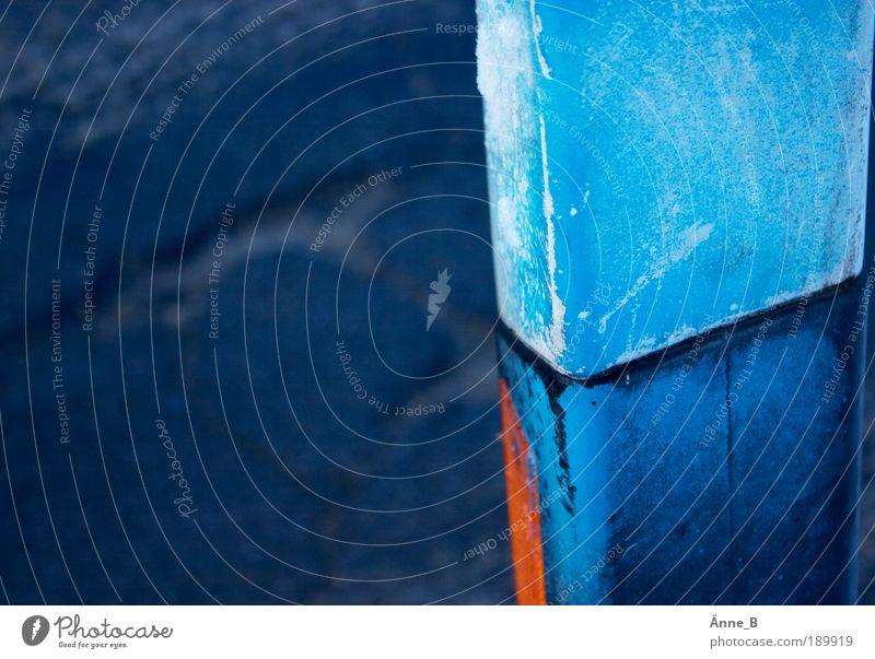 Blaue Stunde blau Schilder & Markierungen Kunststoff Verkehrsschild Verkehrszeichen Wasserspiegelung Leitpfosten Orientierungszeichen