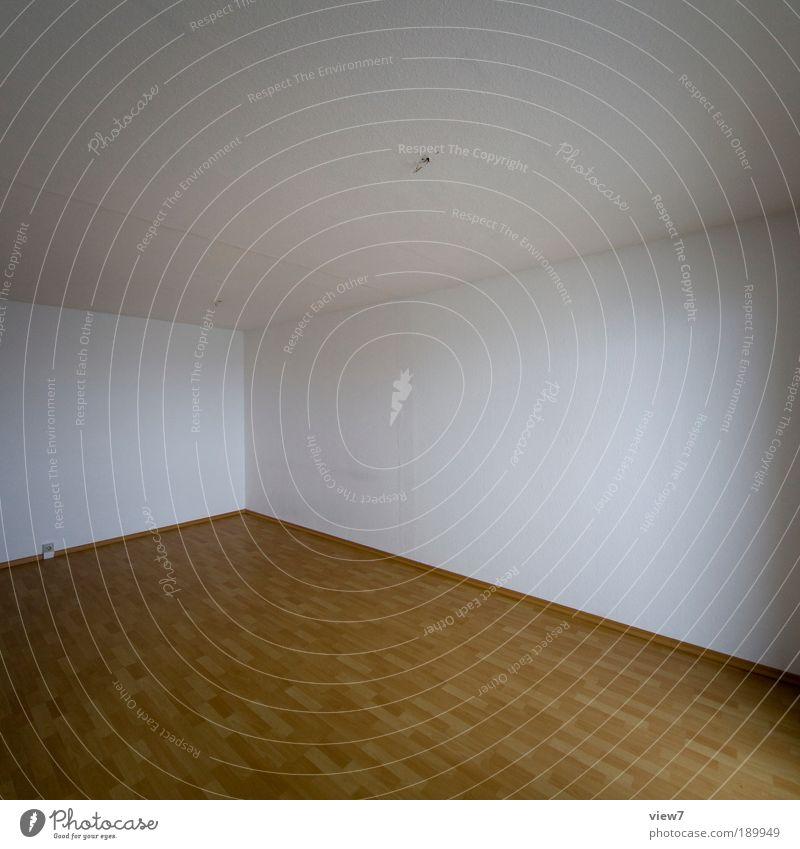 Mietraum alt Ferne Holz Stein Linie braun Raum dreckig Wohnung Beton groß modern Ordnung trist authentisch einfach
