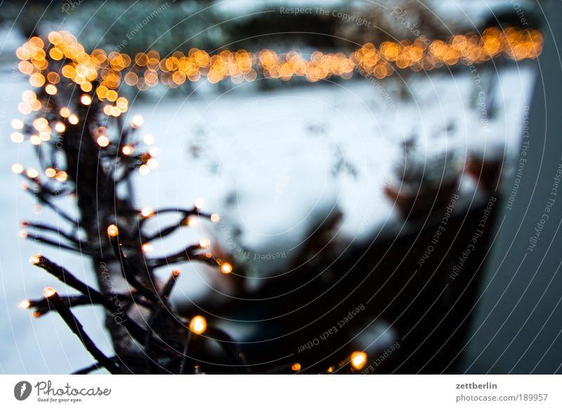 Lichterkette Stern Stern (Symbol) Dekoration & Verzierung Schmuck Tradition Vorfreude verschönern Weihnachtsdekoration Lichterkette Freude Vorgarten