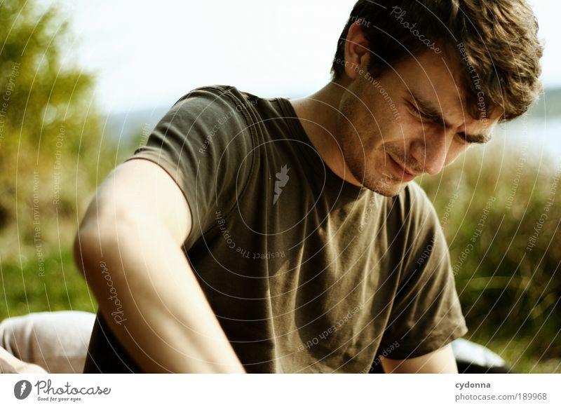 Konzentration Lifestyle Freizeit & Hobby Ausflug Sommer Mensch Mann Erwachsene 18-30 Jahre Jugendliche Umwelt Natur Bildung Entschlossenheit Erfahrung