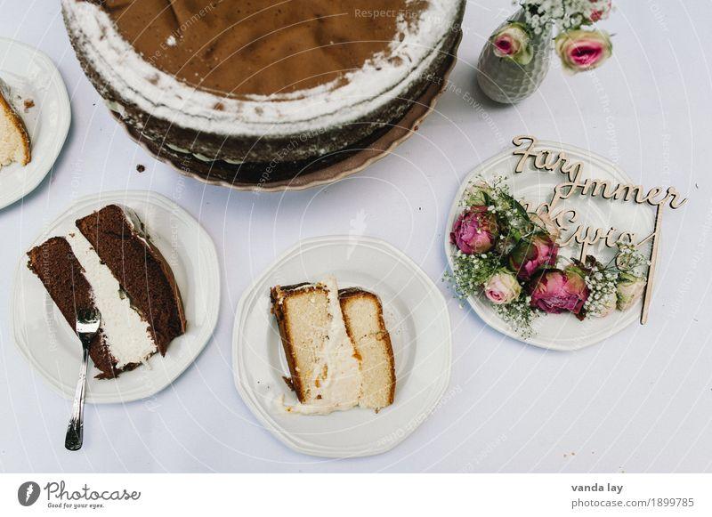 YUMMY Lebensmittel Milcherzeugnisse Teigwaren Backwaren Kuchen Dessert Speiseeis Süßwaren Schokolade Torte hochzeitstorte Kakao Rose Redewendung Festessen Diät