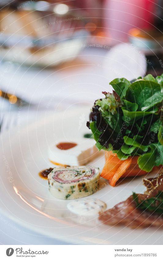 Vorspeisen Lebensmittel Fleisch Wurstwaren Fisch Gemüse Salat Salatbeilage Teigwaren Backwaren Lachsfilet Pasteten Teile u. Stücke Ernährung Abendessen