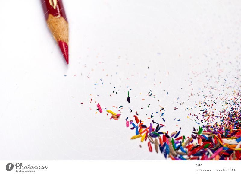 color up your life Schüler Farbe mehrfarbig Schreibstift Farbstift malen Zeichen zeichnen rot Fröhlichkeit Papier regenbogenfarben Bildpunkt Farbfoto
