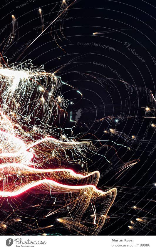 reiter Himmel Freude Stil Lifestyle Kunst Linie leuchten Elektrizität Stern Zeichen Feuer Streifen Macht Glaube Pferd Silvester u. Neujahr