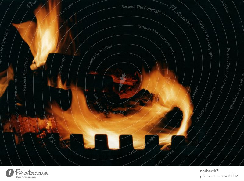Kaminfeuer Wärme Brand Flamme