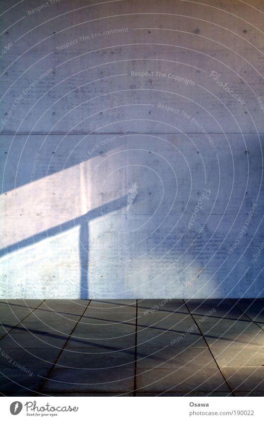 Projektionsfläche Architektur Wand Beton Strukturen & Formen Stein Stadt leer Bodenbelag Steinplatten Betonplatte Kunststein Schatten Sonnenlicht diagonal