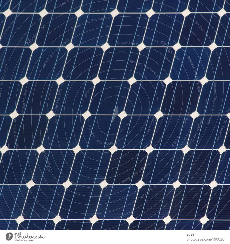 Solar Energiewirtschaft Technik & Technologie Erneuerbare Energie Sonnenenergie Umwelt Zeichen Linie Streifen Netzwerk blau Ordnung Zukunft alternativ