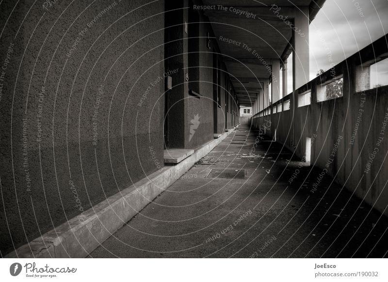 toplage! Stadt Haus Einsamkeit Wand Mauer Architektur Horizont Studium kaputt bedrohlich Wandel & Veränderung Häusliches Leben Vergänglichkeit lang entdecken Umzug (Wohnungswechsel)