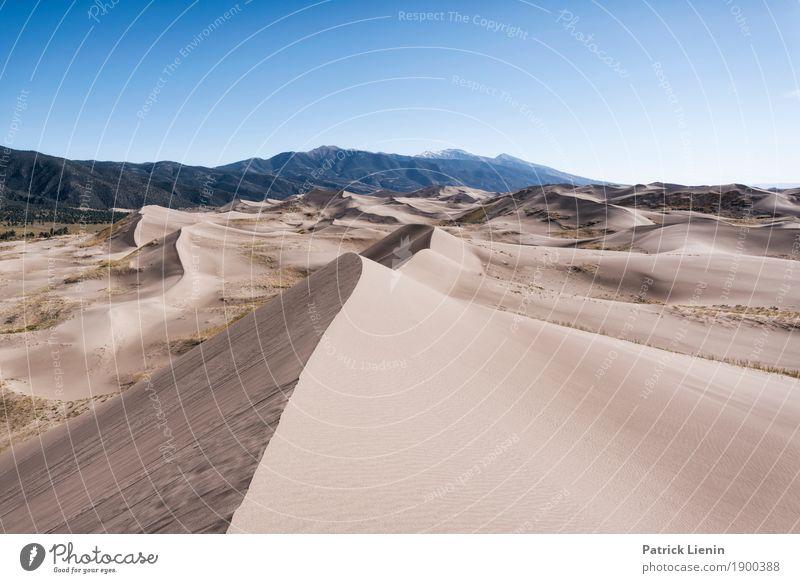 Great Sand Dunes National Park, Colorado harmonisch Wohlgefühl Ferien & Urlaub & Reisen Ausflug Abenteuer Ferne Freiheit Camping wandern Umwelt Natur Urelemente